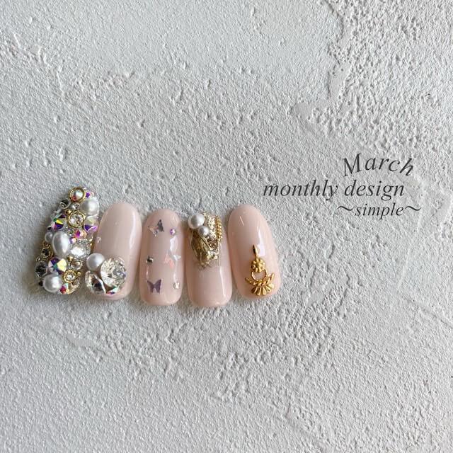 3月マンスリーシンプルグレーのコピー